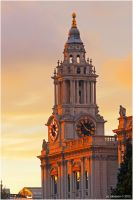 St.Pauks Clock At Sunset. by andy-j-s