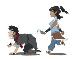 Korra wears the pants by vanduobones