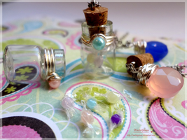 Candy Bottle Necklaces by WaterGleam