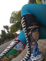 Kneehigh Chucks TokiDoki Style by kneesheellee