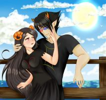 ::G:: Aradia and Sollux by MellonSunrise