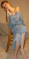 Danielle Blue Dress on Chair by FantasyStock