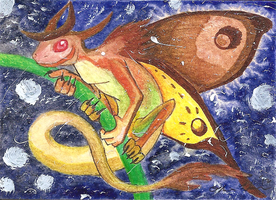 Moth Dragon ACEO *FOR SALE* by OllyChimera