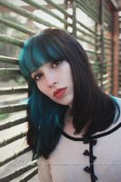 Blue-Haired Girl by Estelle-Photographie