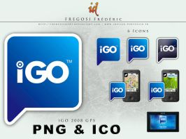 iGO 2008 GPS Icons by fredpsycho83