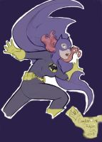 Batgirl Sketch Colored by daisyofthenight
