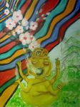 The Psychedelic Vision of the Four Armed Deity by DriftingCloudss