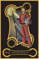 Steampunk tarot of the Moon by flamarahalvorsen