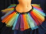 Rainbow And Black Tutu by BacktoEarthCreations