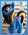 mlp plush commission OCEAN BLUE by CINNAMON-STITCH