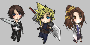 Final Fantasy chibis 2 by Airafleeza