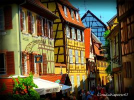 Among the Rainbow Half-timbered Houses... (Colmar) by Cloudwhisperer67