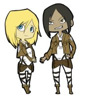 Christa and Ymir by EveningSolstice