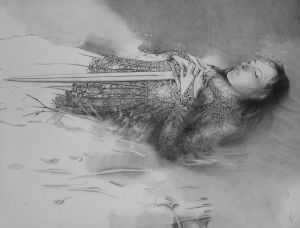 The Lady of the Lake, WIP by CaroleHumphreys