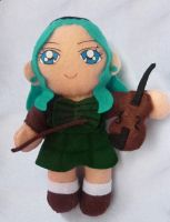 Sailor Neptune Michiru Custom Plush Doll by aleena