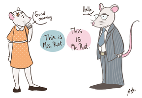 Mr and Mrs Rat by Anto90