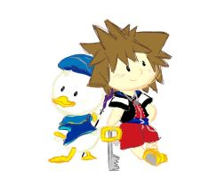 AX Commission: Donald and Sora by SpotofInk