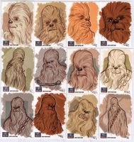 STAR WARS Sketchcards - Chewbacca by DenisM79