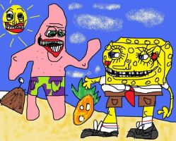 spongebob say hello to patrick by MaccaMacca91