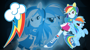 Rainbow Dash EQG Wallpaper by Jerimin19
