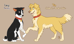 Redcoat West dogs - Lacy and Tin by Mistrel-Fox