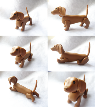 Posable Dachshund Views by vonBorowsky