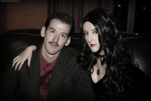 Morticia Addams: Gomez and Morticia by HarleyTheSirenxoxo