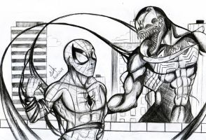 Spider-Man vs Venom by PsychoNinjaNatalie