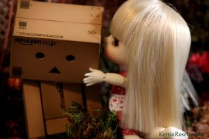 Danbo's First Kiss by KerriaRosette