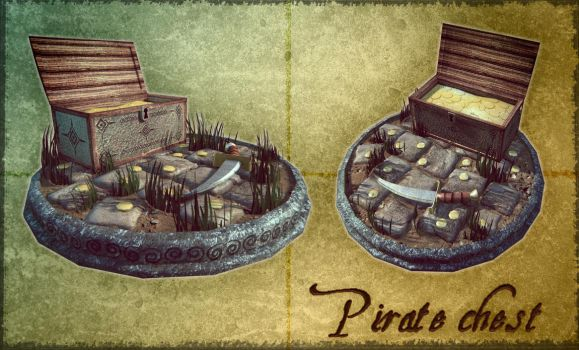 Model 3d : Pirate chest pt 1 by MarcinG1