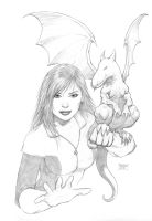 Kitty Pryde and Lockheed by FlowComa