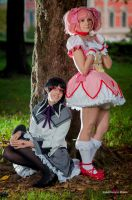 Madoka and Homura by Giuly-Chan