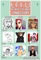 Pay-What-You-Want Commissions by r-u-d-e