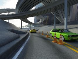 Deserted Freeway by myaeonfluxproject