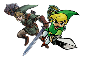 Teen Link and Toon Link by Legend-tony980