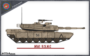 M1A1 Abrams by Milosh--Andrich