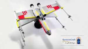 Quilling Star Wars X-Wing by kyomoncraft