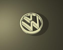 Gold VW Wall by b-a88
