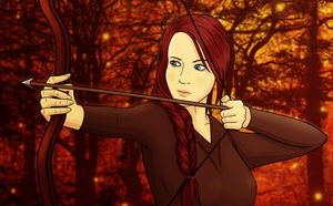 Katniss Everdeen [Thank you for 300 watchers] by xHeeendlx