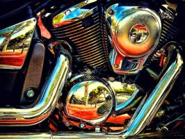 The Motorcycle Chrome Engine by RiegersArtistry