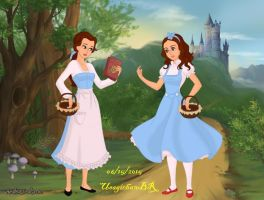 Fairytale-Scene-Dorothy and Belle by UsagichanBR