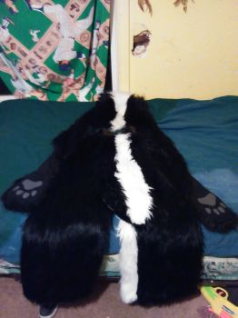back part of skunk outfit. did you see the tail? by MorterFireSkunk