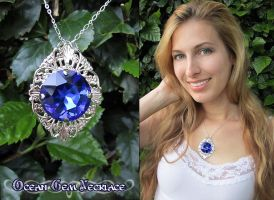Ocean Gem Necklace by Lillyxandra