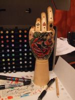 IN PROGRESS-Painted hand. by mxw8