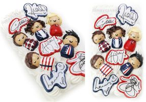 One Direction Themed Decoden iPhone 4/4s Case by dimeycakes
