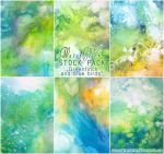 Greenfinch and blue birds - WATERCOLOR STOCK PACK by AuroraWienhold