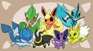 Eeveelution's Prevolutions by EMShelley