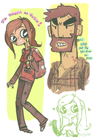 The last of Us doodle page by pikagirl65neo