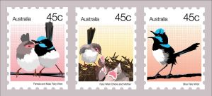Postage Stamps x 3 by fourletterlie