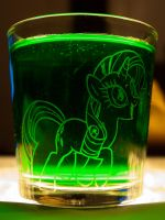 Rarity Glass Etching by TecknoJock